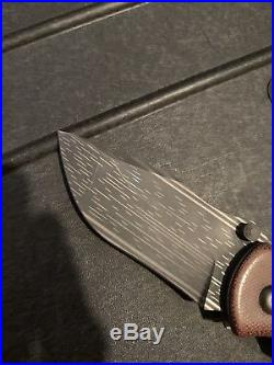 FULL Custom Brian Efros Funk Damascus TAD Hinderer Titanium Knife EDC