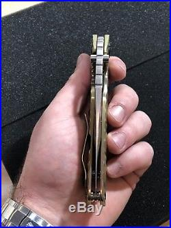 FULL Custom Mick Strider Dwyer TAD Hinderer Titanium Knife EDC RARE Microtech