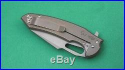 Ferrum Forge/Gavko Knives Mako (2015), 20CV Blade, Bronze Titanium Scales (NIP)