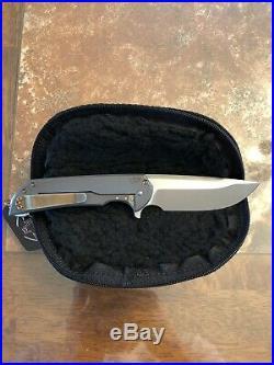 Ferrum Forge Knife Works Mordax, FFKW, Flipper, Frame Lock, Titanium Frame