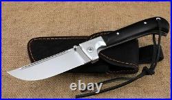 Folding pchak knife, Uzbek pchak folding knife, forged steel X12MF