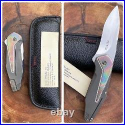 GTC Custom Knives by GUS Cecchini of Brazil Federal H/C Titanium & Mokuti CPM154