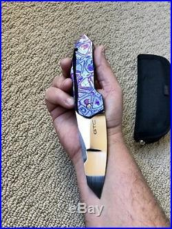 GTC Knives Zircuti Reduced Stampede SLT Flipper Signed