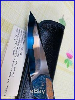 GTC Stampede SLT One Off Custom Knife Handmade Full Mokuti Scale