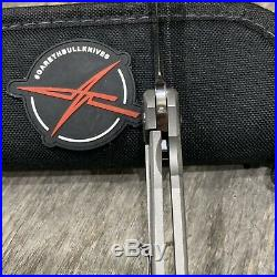 Gareth Bull Shamwari 3.5 Right Hand On Bearings Drop Point Sham Smooth Titanium