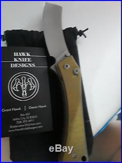 Gavin and Gavin Hawk Orbit 2 Titanium Handle Anodized Gold with Stonewashed Blade