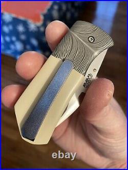 Gedraitis Knives Full Custom Mongoose Folding Knife RARE