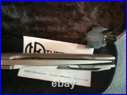 Geoff Blauvelt Tuff Knife CTS-XHP Switch Tanto / Wood Inlays Full Titanium