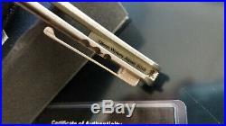 Glenn Waters Hayabusa 2 3 Front Flipper Knife Titanium/Timascus M390 MINT