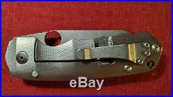 Grayman knives customized Tiga CTS-XHP Blade Textured Titanium Handle