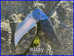 Greg lightfoot knives Veyron custom with carbon fiber and timascus scales