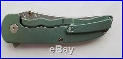Grimsmo Knives Norseman GREEN diamond pattern Bronze Hardware Titanium BRAND NEW