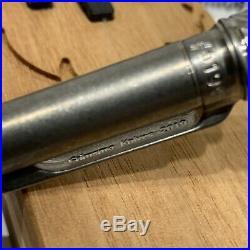 Grimsmo Knives SAGA Pen withRefill Naked Titanium Silver Ring & Button Norseman
