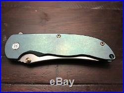 Grimsmo Norseman #2032 Green Stonewashed Handle With Bronze Hardware
