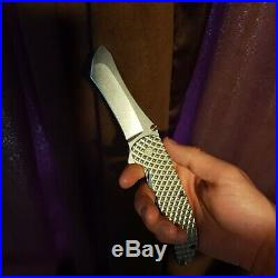 Grimsmo Norseman. #3008 silver diamond pattern. Purple hardware