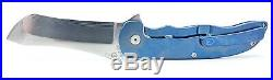 Grimsmo Norseman #636 Blue RWL-34 Titanium Handle Custom Flipper Knife