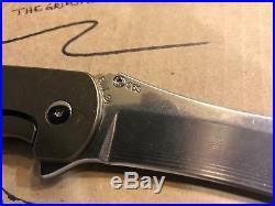 Grimsmo Norseman Custom Folding Knife #963 Bronze Titanium Scales RWL-34 Blade