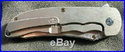Grimsmo Norseman Knife #1020 Smooth Silver Handle with Bronze Hardware New