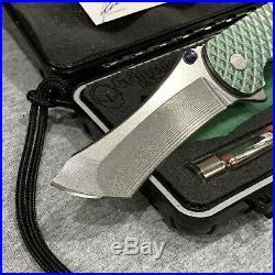 Grimsmo Norseman RWL 34 Blade Green Diamond Scales Custom Pocket Knife #2601