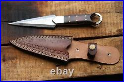 Handmade Damascus Steel 10 Hunting Knife, Dagger Knife With Micarta Handle