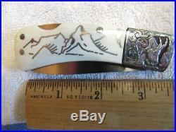 Handmade Folding Knife. Tommy Lee Engraved Lockback. Exotic Scales