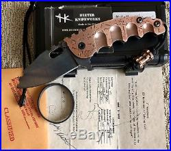 Heeter Knifeworks MOW Flipper Copper #004