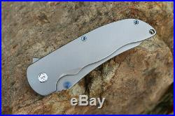 Hilberg Knives! M390 Blades Smooth Titanium Handle Tactical Folding Pocket Knife