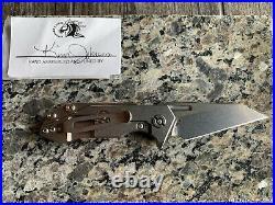 Hinderer Halftrack Wharny Triway Orange/black G10 Sw Blade/handle Lnib