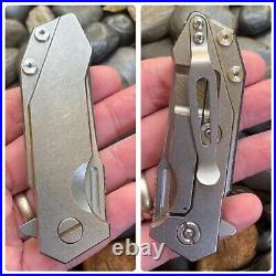 Hinderer Knives RHK Half Track Full Titanium Pocket Knife S35VN ClipPoint Blade