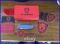 Holt Bladeworks Haptic Custom Purple Knife Stone Washed 2.0 M 390 #679