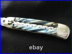 Hubertus CUSTOM folding knife, One Of A Kind, MAMMOTH MOLAR Scales, File Work