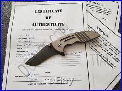 Jake Hoback Custom Early A10, Handmade Flipper Knife, Extremely Rare, No Reserve