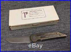 Jake Hoback Knives Kwaiback S35 VN Flipper Knife Withbox Used But Solid 2011