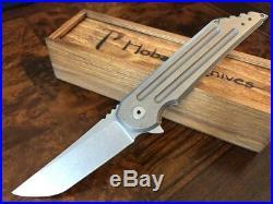 Jake Hoback Knives Kwaiback Stonewash Titanium 20CV Blade Steel