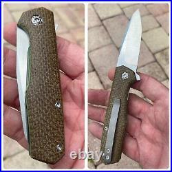 Jared Oeser Custom Knives Nebo 2 Flipper Pocket Knife Prototype Batch 11/2018