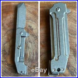 Jon Graham Knives GMT Razel GT Midtech Flipper Pocket Knife Titanium