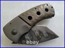 Jonathan McNees FMUK Tanto, Wicked Hamon, Sculpted Frame, Stout Overbuilt Knife