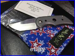 Jonathan Mcnees Large Tracker Jacker Custom Flipper Knife