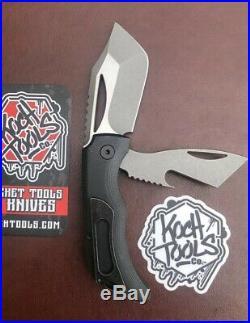 Justin Koch Tools KTC-2 Pocket Knife Prybar Bottle Opener 2 Blades Satin Flats