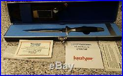 KERSHAW TROOPER #1007 SER 32758 9.5 FIX BLADE KNIFE With CASE, SHEATH CERT. Mint
