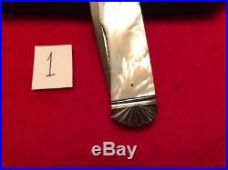 Ken Steigerwalt Custom Lock Back Folder Mother Of Pearl Handle Knife Knives