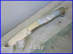 Ken Steigerwalt mother of pearl / mirror polished custom Folding knife