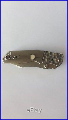 Kingdom armory mini samaritan titanium frame lock folder. VERY RARE