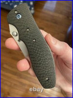 Kirby Lambert Full Custom Orion MGT Carbon Fiber Folding Knife RARE NEW