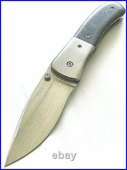 Kit Carson Protoge Mike Obenauf Custom Handmade Large Model 2 Folder Mint Knife