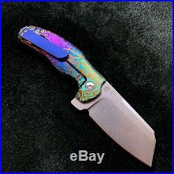 Kizer Mini Sheepdog C01C Frame Lock Knife 2.6 Flomascus Pattern BWL Custom