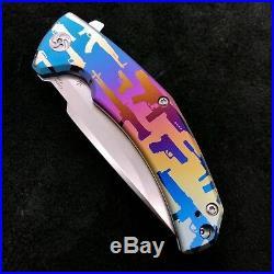 Kizer Mjolnir Ki4494 Flipper Frame Lock Knife 3.75 Gun Show Pattern BWL Custom