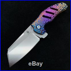 Kizer Sheepdog Ki4488 Flipper Frame Lock Knife 3.3 Rhombus Pattern BWL Custom
