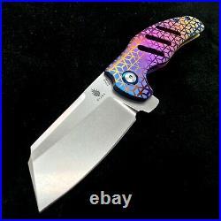 Kizer Sheepdog Ki4488 Flipper Frame Lock Knife 3.6 Dfade Rhombus Ano BWL Custom