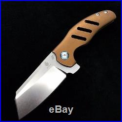 Kizer Sheepdog Ki4488 Flipper Frame Lock Knife 3.6 Dirty Bronze BWL Custom